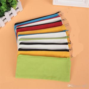 Estudiante Lápiz caso de la lona de la cremallera pura pluma Caja de color de tela Oxford papelería bolsas portátil fácil de limpiar 4 3lgb1