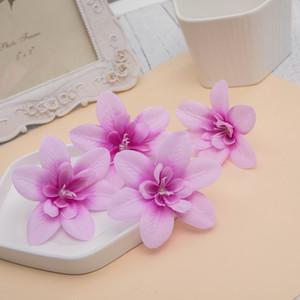 꽃과 모조 난초 머리 신부 화환 그랬 손목 실크 재질 난초 수공예품 선물 상자