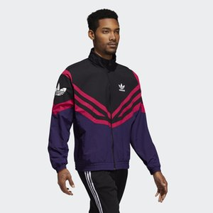 Designer Langarm Herren Jacken Active Style Brand Sportwear Windbreaker mit Zipper Striped Weiß Schwarz Luxus Jacken Großhandel iiceeb
