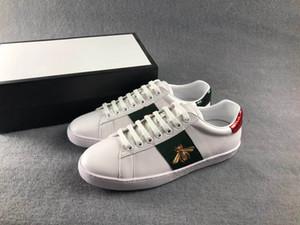 Mulher Moda sapatos de homem Designer Lace-up sapatos menina menino sapatos casuais brancos sapatos rasos Bee tigre cobra bordado senhora Sneake