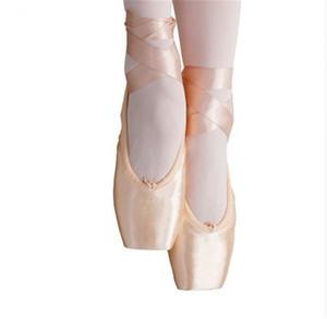 Balletto Kid e adulti ragazza delle donne Lace-Up di colore rosa satinato superiore del nastro ballo ginnastica professionale scarpe Pointe di gel di silicone rilievo le dita dei piedi