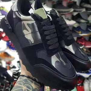 hombre de lujo de diseño de camuflaje rockrunner las zapatillas de deporte cestas mujeres de los hombres de pisos de marque de diseñador de lujo femmes Calzado casual