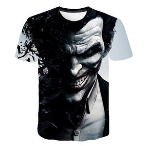 Art und Weise neuer super cool Männer und Frauen T-Shirt 3D mit Suizid 3D kurzer Ärmel Clown Kurzarm T-Shirt