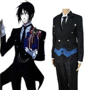 Black Butler 2 쿠로시 쯔지 Sebastian Michaelis 코스프레 유니섹스 유니폼