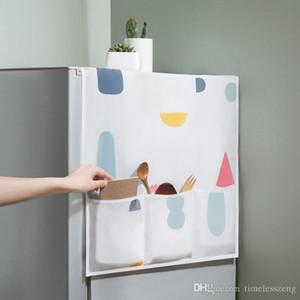 Творческого PEVA Холодильник Dust Proof Обложка Муть Функциональные хранения сумка холодильник Чехол Органайзер для стиральной машины микроволновой печи