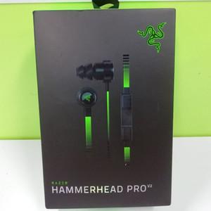 Лучшие Razer Hammerhead Pro V2 наушники в ухо наушник с микрофоном Игровые Гарнитуры Шумоизоляция Stereo Bass