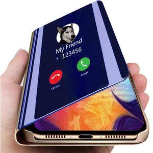 Espejo inteligente Funda de cuero para LG V60 V50 V40 V30 Plus lujo claro teléfono caso para LG K61 K50S K50 Q60 G8