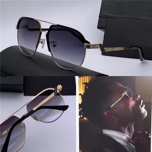 Homem novo designer óculos de sol 90838 aviador metal retro meia-imagem fashion design estilo alemão de vanguarda popular com caso