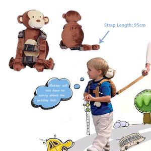 Toddler Kids Safety Walking Harness Anti-lost Strap Wrist Leash Plush Animal Bags Boy Girls Cartoon Backpack School Bag Bookbag Satchel