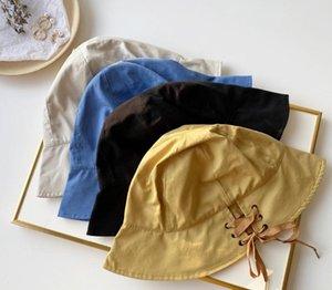 New 2020 south Korean summer instagram hat art Lovely belt fisherman hat lady joker basin hat