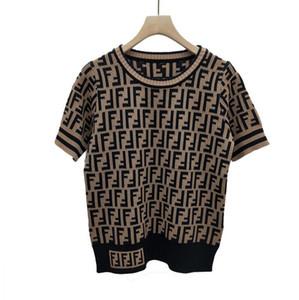 F письмо круглый воротник с коротким рукавом вязаный жакет летнего качества новый женский свитер фабрика женские оптом