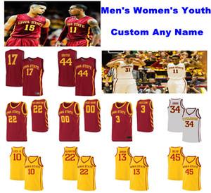 NCAA Iowa State Siklon Formalar Nate Schuster Jersey Terrence Lewis Eric Steyer Tyrese Haliburton Koleji Basketbol Formalar Custom
