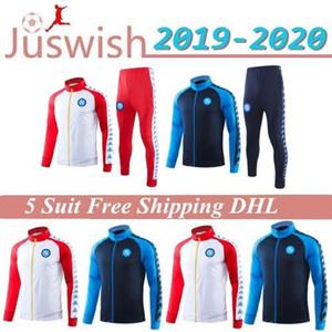 19 20 Napoli Soccer Jacket Training Suit 2019 2020 Неаполь Гамшик L.INSIGNE MERTENS взрослых Полная молния Футбол куртка костюм свитер