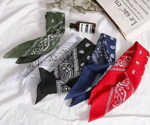 Square scarf male Korean version of the retro hiphop net redhead with female ins hip hop sports street hipster headscarf