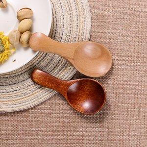 200pcs 8cm Natürliche Holz, Kaffee, Tee Zucker Salz Löffel Scoop Küchenzubehör Mini Holz Menage Löffel