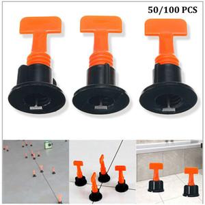 Nuevo plástico T Suelo Pared Herramientas del nivelador de la baldosa cerámica de nivelación Sistema kits para T