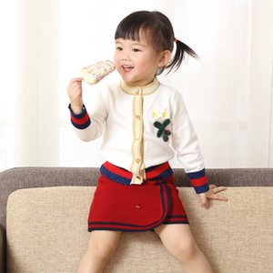 Winter Autumn Toddler Girls Clothing Sets Kids Cotton 2 Pcs Clothes Children Outfits Long Sleeve Sweater Suits For Girls Knitted