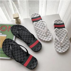 Designer de Borracha sandália de slides Floral brocade homens chinelo Engrenagem bottoms Flip Flops mulheres listrado Praia causal chinelo 36-44