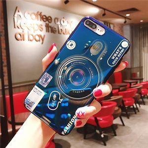 Moda telefon kılıfı kickstand ile iphone xs xsmax xriphone7 / 8 artı iphone7 / 8 iphone6 / 6s iphone6 / 6sp yaratıcı kamera tarzı telefon kılıfı
