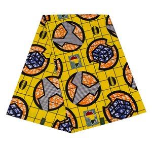 100% coton véritable cire véritable wax hollandais cire d'impression hollandais 6yards tissu tissu de couture africaine ankara WB-52