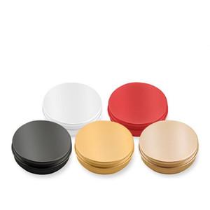 200pcs / lot 10 ml 10 g métal stockage aluminium bidons pots ronds récipients en tôle vides bocaux bouchon à visser boîtes de conserve or noir rose couleur or