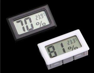 Mise à jour intégré Thermomètre LCD hygromètre Température Humidité réfrigérateur congélateur testeur mètre moniteur couleur blanc noir