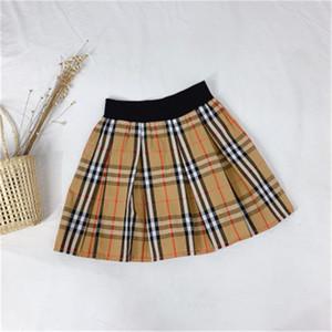 Wear Primavera Verão Outono Tide marca clássico da manta menina Saia Curta Estilo escocês ocasional saia do bebê Moda Infantil Boutique