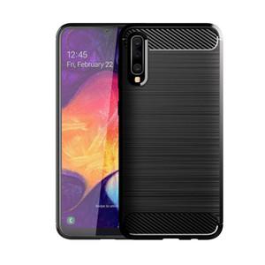 Carbon Fiber Texture Shockproof Cover Schutzhülle Slim Fit Weiche TPU-Silikonhülle für Samsung Galaxy A20 A30 A50 A70 A90