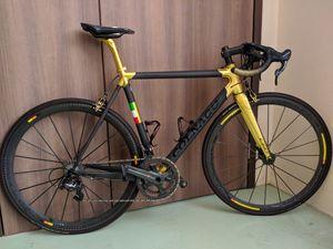 Orijinal R7000 ile Colnago C60 Altın parlak siyah mat Yol karbon komple Bisiklet COLNAGO gidon groupset Kozmik 50mm tekerlek seti