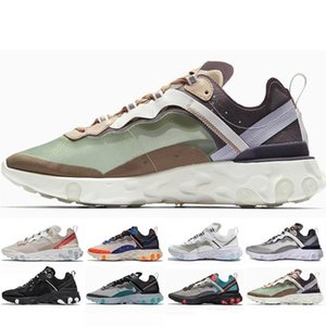 2019 New Men Women Casual Shoes UNDERCOVER x Upcoming react Element 87 Pack White Sneakers Brand Trainer Designer Zapatos 36-45 LL03