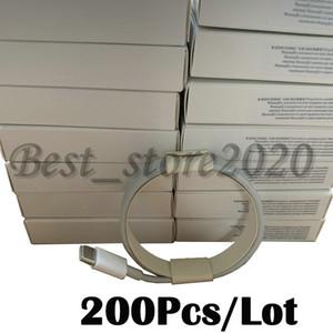200pcs 2m 6 pies de cable para 6s 7 8 xs OEM USB de la calidad de teléfono de datos de sincronización y carga cable con envases al por menor
