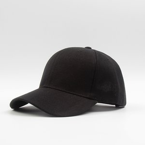 Hat solid color female spring male hipster pure black cap flat eaves baseball cap wild street sun hat hot good quality adjustable colors