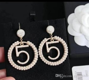 2020 new women's fashion temperament ring pearl diamond silver needle earrings jewelry