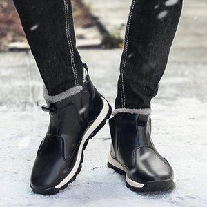 CRMDEOX Men Snow Boots High Quality Snow Warm Fur Man Ankle Boots Men Winter Autumn Basic Shoes coturno militar