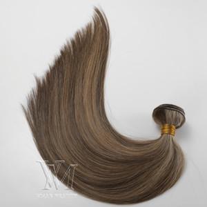 Vmae Duplo Empatou 3 Pacotes / lot Piano Color # 4 # 14 trama do cabelo de trama de seda reta suave Virgin Remy extensão do cabelo humano