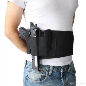 Taktik Ayarlanabilir Göbek Bandı Bel Tabanca Gun Kılıf Gizli Taşıma Tabanca Gun Kılıfı Elastik Bel Tabanca Kılıfı ile 2 Mag Torbalar Çanta