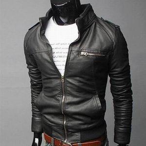Yeni Laamei Deri Ceket Erkekler Bahar Sonbahar Ince Ceket Erkekler Slim Fit Ceket En Kaliteli Butik Marka Casual Denim Ceketler Moda