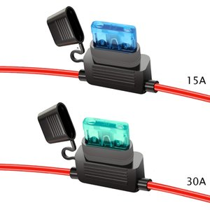 Yunpicar ATC/ATO 15A 30A In-Line Fuzle Holder 16 Measur Wiring Prizer 12V Standard Plack Socket Pack Of 1