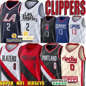 Clipper Jersey Kawhi 2 Paul Leonard George Jersey 0 Damian CJ Lillard McCollum Formalar Carmelo 00 Anthony Blazer Jersey Basketbol Formalar