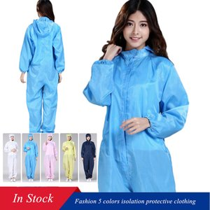 S-3XL Fashion 5 Colors Disposable Gown Isolation Protective Clothing Safety Suit Anti Pollution Waterproof Hooded Non-woven Protective Suit
