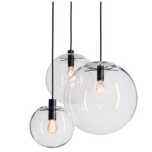 حبل قلادة الأنوار غلوب كروم زجاج الكرة hanglamp بريقا تعليق أضواء المطبخ تركيبات الرئيسية شنقا أضواء E27