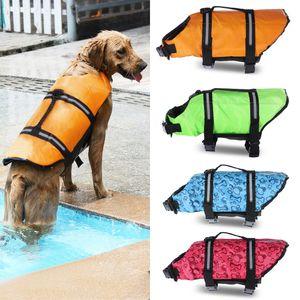 Life Jacket Dog Float Coletes Dog Pet Cachorrinho Resgate Piscina usar roupas de segurança Vest Vida Vest Suit Swimsuit com reflexiva Faixa