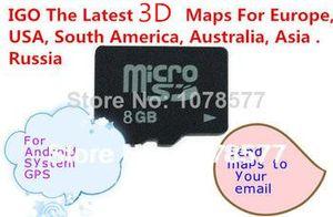 GPS IGO map sd card us 8GB with lastest GPS maps Европа, США, Южная Америка, Австралия, Азия Бесплатная доставка для системы Android