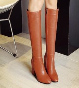 Neue Ankunft Heißer Verkauf Angebote Super Mode Influx Martin Plus Samt Baumwolle Weibliche Leder Plain Paket Box Edle Heels Stiefel EU33-43