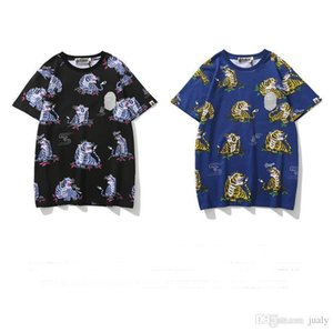 2019 Mens Designers Clothing Ape Tshirts Printed Animal Short-sleeved T-shirt Teen A Bathing Outdoor Wear Cotton High Quality Breathable