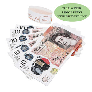 Commercio all'ingrosso Pretend UK Paper Money copia banconote prop soldi 100pcs / pack