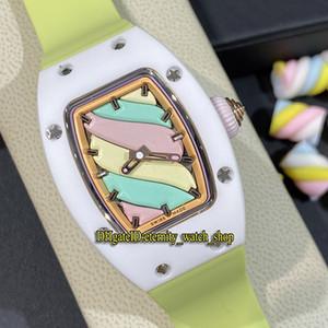 Ultima edizione Dolci RM 07-03 Marshmallow ceramica verde Caso Giallo Rosa quadrante smaltato Orologi di lusso Giappone Miyota automatico RM07 signora vigilanza
