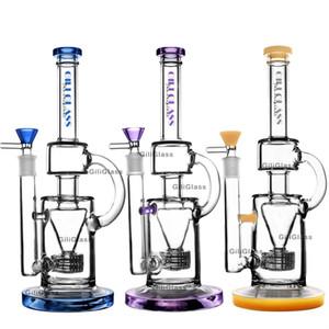12 pouces de hauteur de recyclage de verre bong dab rig plates-formes pétrolières de conduites d'eau avec un bol pétards quartz de cire Bangs tamponnant tubes entêtants Envoi gratuit