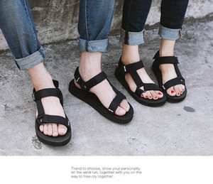 Fashion New Mens And Womens Casual Flat Heel Students Breathe Outdoor Vietnam Beach Shoes Ankle Strap Sandals Size 35-44