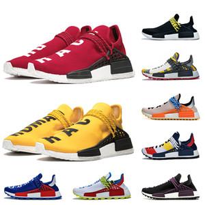 Adidas 2019 Pharrell Williams NMD Human Race 36-47 zapatos corrientes de la Raza baratos de descuento BBC verde del corazón de la mente del empollón zapatillas de deporte